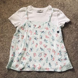 Abercrombie girls 2 layers top new 11/12